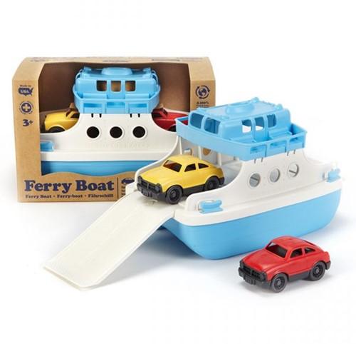 Green Toys - Veerboot Met Auto's Blauw/Wit