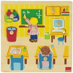 Goula Noppenpuzzel Op School