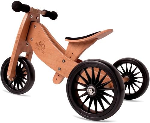 Kinderfeets houten loopfiets & driewieler Tiny Tot Plus Bamboo