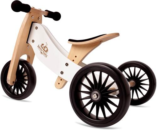 Kinderfeets houten loopfiets & driewieler Tiny Tot Plus White