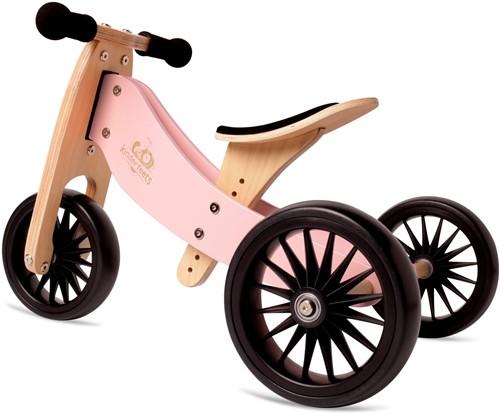 Kinderfeets houten loopfiets & driewieler Tiny Tot Plus Rose