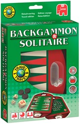 Jumbo reisspel Backgammon en Solitaire