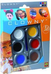 Ses  Clowny verkleedkleren Aquaschmink, 6 kleuren