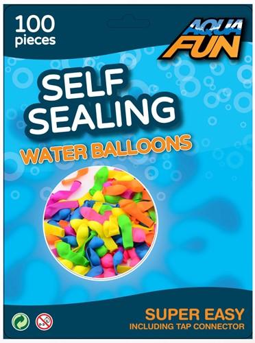 Aqua Fun waterballonnen zelfsluitend 100 stuks