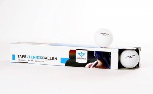 Engelhart t.t. ballen 6 stuks in doosje, 40 mm, kleur wit