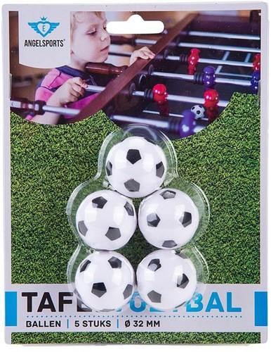 Engelhart Tafelvoetbalballen  5 st. zwart/wit in blister