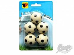 Angel Sports Tafelvoetbalballen  5 st. zwart/wit in blister