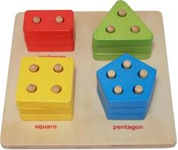 et Happy stapelspel Sorteerbord geometrisch tellen