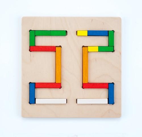 Engelhart vormenpuzzel staafjes - 20 stukjes