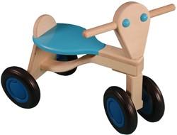 Van Dijk Toys houten loopfiets Lichtblauw - berken