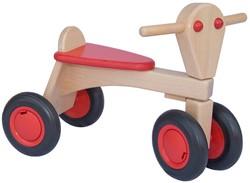 Van Dijk Toys houten loopfiets Rood - beuken