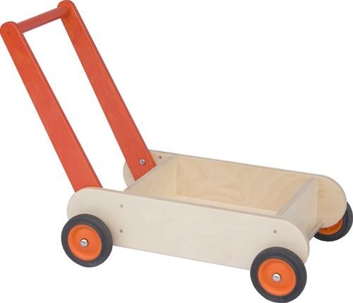 Van Dijk Toys Houten loopwagen oranje