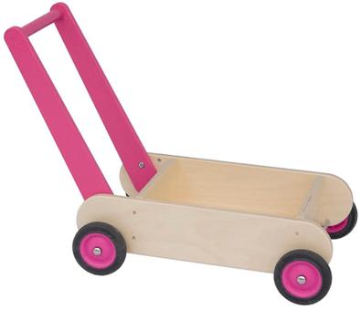 Van dijk Toys houten loopwagen roze