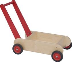Van Dijk Toys houten loopwagen rood