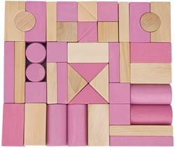 Van Dijk Toys blokkenset roze/blank