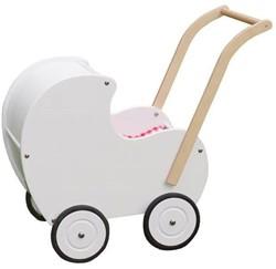 Van Dijk Toys  houten Poppenwagen wit