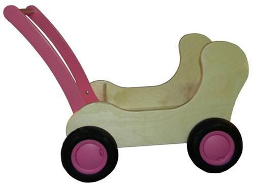 Van Dijk Toys Combi poppenwagen roze