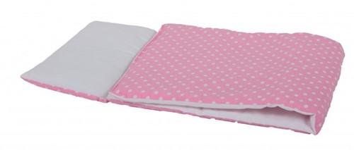 Van Dijk Dekje wit met roze stippen