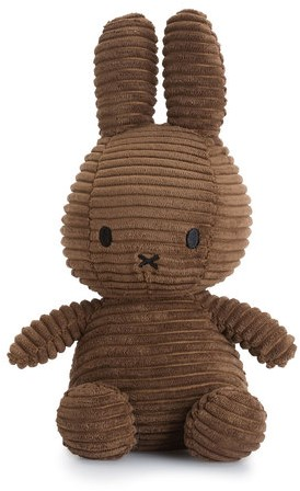 Nijntje Corduroy knuffel bruin - 23 cm