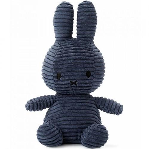 Nijntje Corduroy knuffel donkerblauw - 23 cm