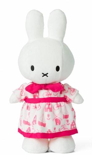 Nijntje Roze jurk knuffel -  24 cm