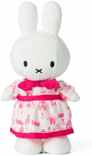 Nijntje Roze jurk knuffel - 34 cm