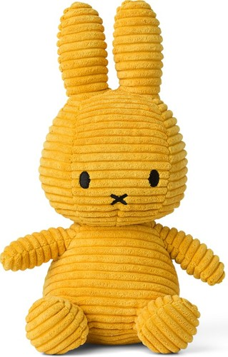 Nijntje Corduroy knuffel geel - 23 cm