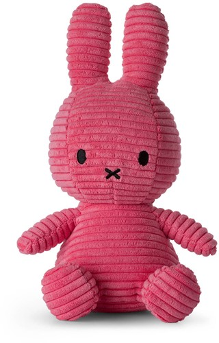 Nijntje Corduroy knuffel bubblegum roze - 23 cm