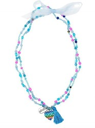 Souza - Sieraden - Necklace Freda, with heart, blue