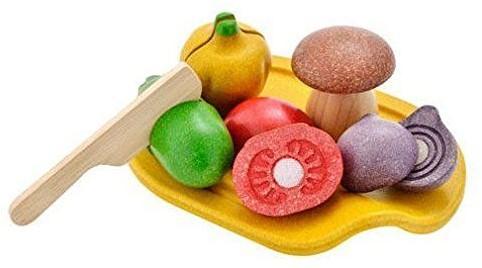 Plan Toys  houten keuken accessoires Groente assortiment