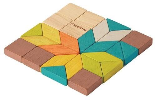 Plan Toys houten puzzel  mozaïek