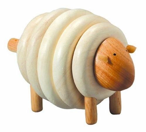 Plan Toys stapelfiguur schaap