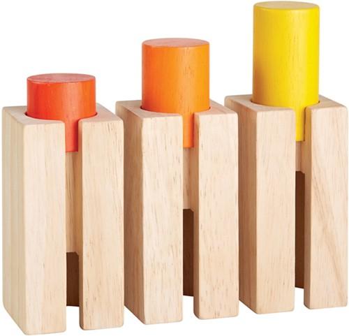 Plan Toys houten hoogte en diepte blokken
