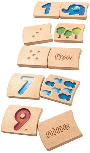 Plan Toys houten nummers 1-10