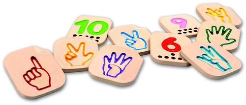 Plan Toys houten gebarentaal tekens