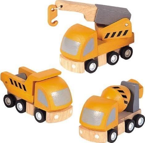 Plan Toys  Plan City houten speelstad voertuig Bouwvrachtwagenset
