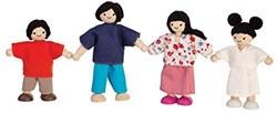 Plan Toys  houten poppenhuis poppen Asian family