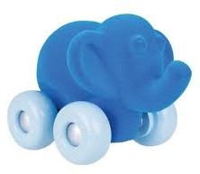 Rubbabu Aniwheel Elephant (Blue)