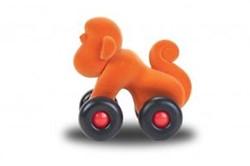 Rubbabu Aniwheel Monkey (Orange)