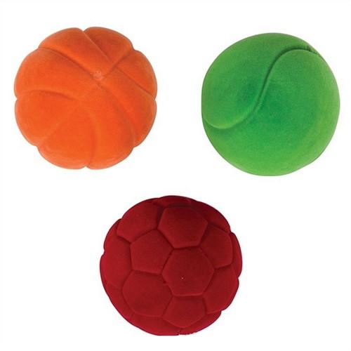 Rubbabu - Set 3 mini sportballen