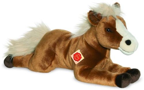 Hermann Teddy Pferd liegend braun 51 cm