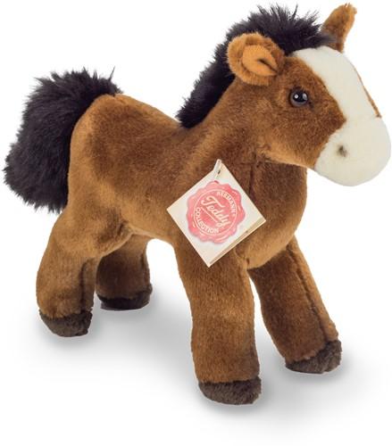 Hermann Teddy Pferd mit Stimme rotbraun 19 cm