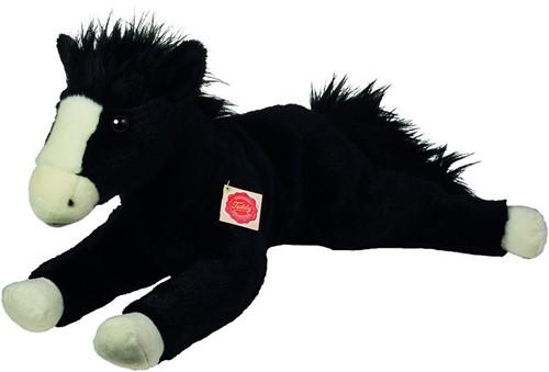 Hermann Teddy Pferd liegend schwarz 53 cm