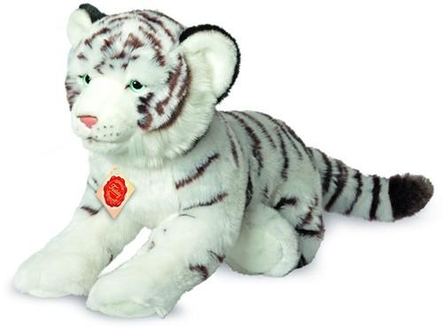 Hermann Teddy Tiger weiß liegend 40 cm