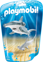 Playmobil Family Fun - Hamerhaai met jong  9065
