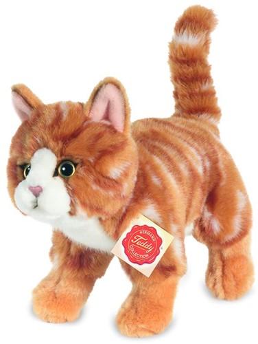 Hermann Teddy Katze stehend rot getigert 20 cm