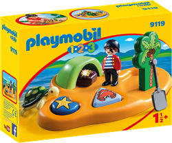 Playmobil - Playmobil 1,2,3 - 1.2.3 Pirateneiland