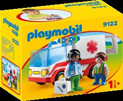 Playmobil 1.2.3 Ziekenwagen  9122