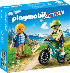 Playmobil Action - Wandelaar en mountainbiker  9129