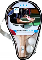 Angel Sports Tafeltennisset 2x 3 ster bat met 2  ballen 40mm